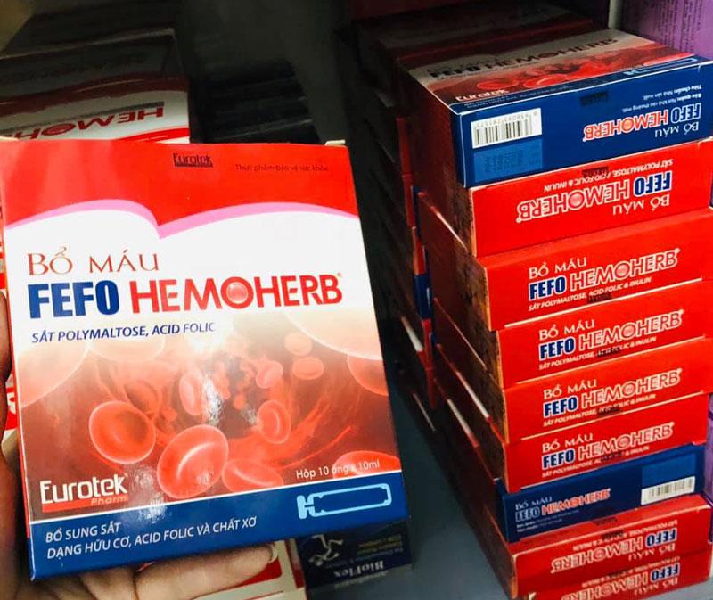 Bổ máu Fefo Hemoherb, hỗ trợ tăng hồng cầu và tăng lưu lượng máuBổ máu Fefo Hemoherb, hỗ trợ tăng hồng cầu và tăng lưu lượng máu