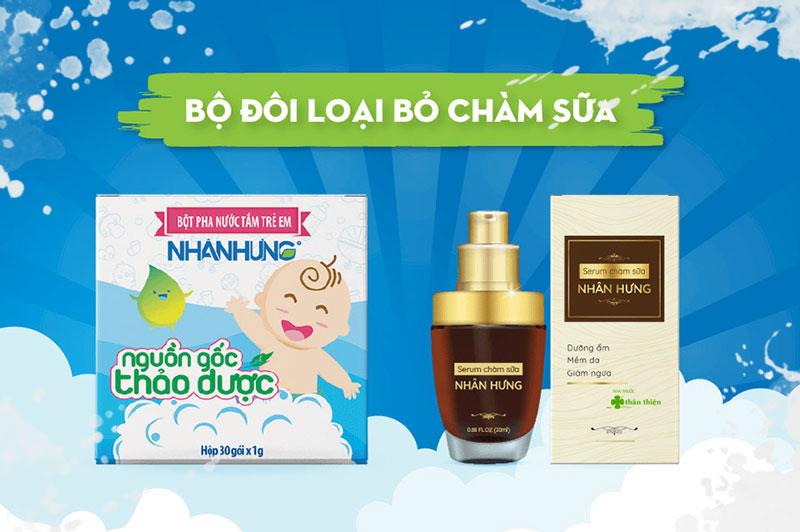 Bột pha nước tắm trẻ em Nhân Hưng, hỗ trợ điều trị các bệnh ngoài da cho trẻ sơ sinh