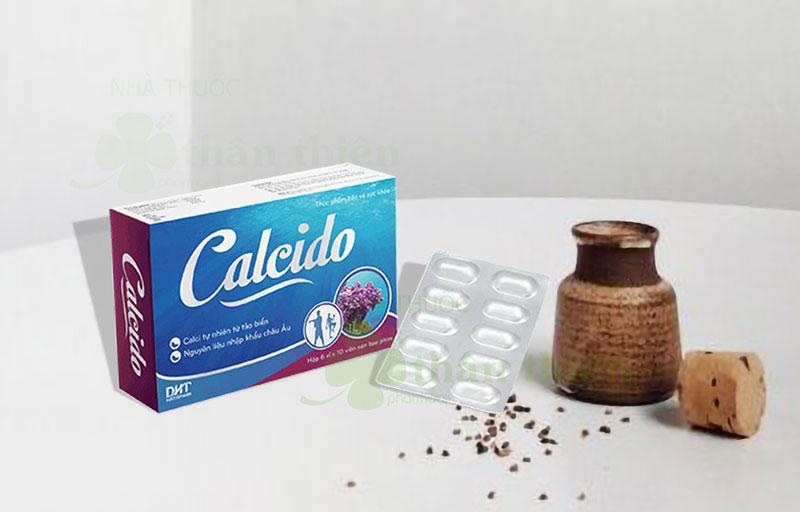 Viên uống Calcido có cả dạng vỉ và dạng lọ