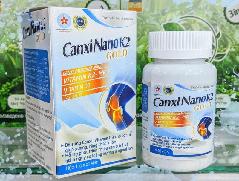 Canxi NanoK2 Gold, bổ sung Canxi, Vitamin D3 cho cơ thể