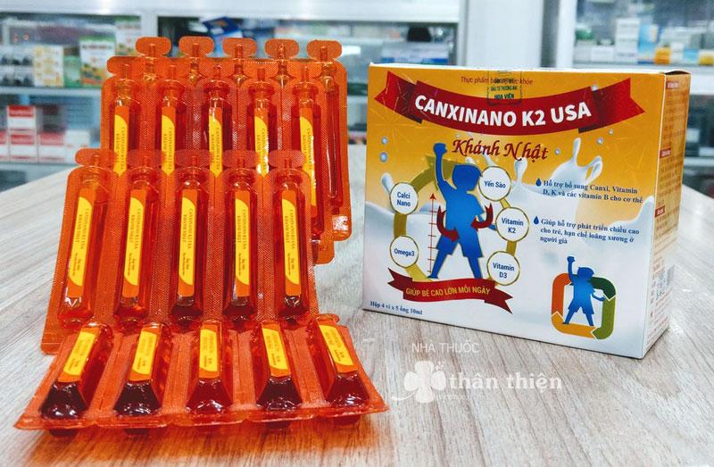 Canxinano K2 USA Khánh Nhật, hỗ trợ bổ sung canxi, vitamin D, K và các vitamin B