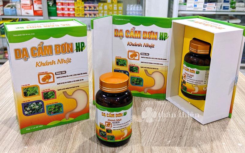 Dạ Cẩm Đơn HP Khánh Nhật, giúp hỗ trợ làm giảm viêm loét dạ dày, tá tràng