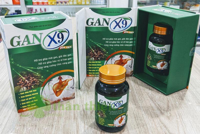 Gan X9 Hoa Viên, hỗ trợ giúp mát gan, giải độc gan, tăng cường chức năng gan