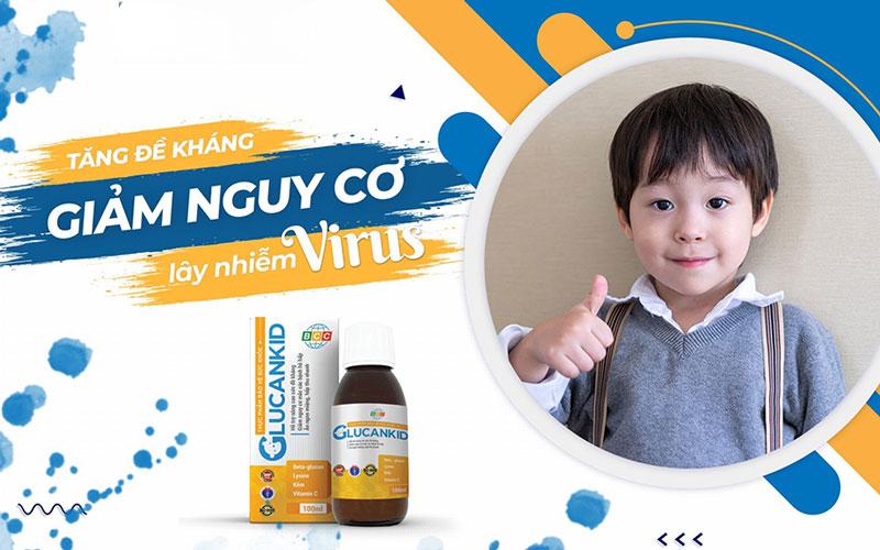 Glucankid, hỗ trợ tăng cường tiêu hóa, ăn ngon, nâng cao sức đề kháng