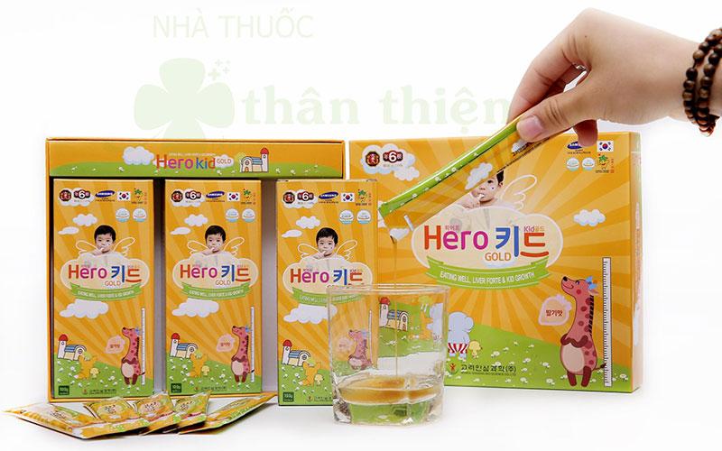 Hero Kid Gold, giúp tăng cường hấp thu canxi, hỗ trợ giúp xương chắc khỏe