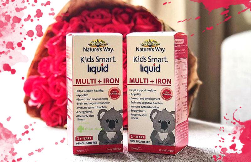 Nature's Way Kids Smart Liquid Multi + Iron, hỗ trợ tăng cường sức đề kháng
