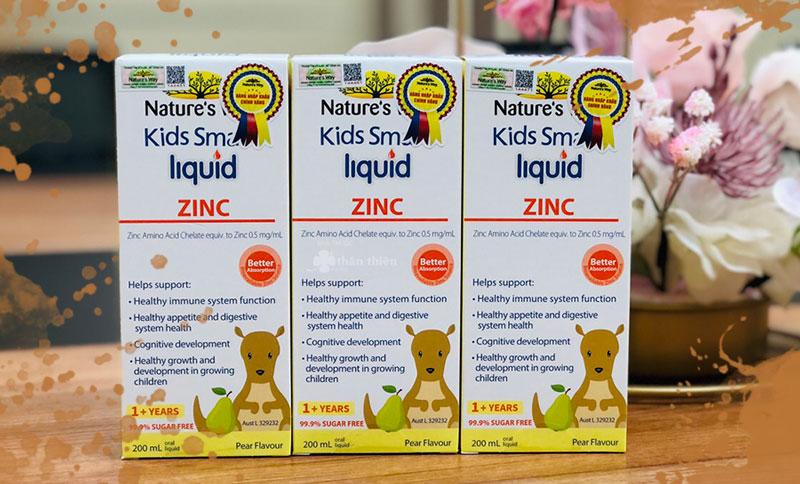 Nature's Way Kids Smart Liquid Zinc, giúp tăng cường sức đề kháng, tốt cho hệ tiêu hóa