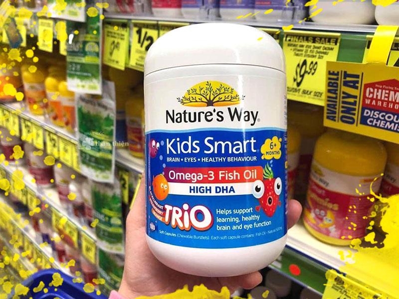 Nature's Way Kids Smart Omega 3 Fish Oil Trio High DHA