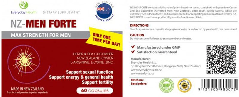 Viên Uống NZ-Men Forte, hỗ trợ tăng cường sinh lực, hỗ trợ cải thiện sinh lý nam