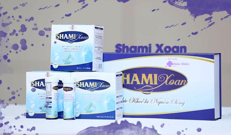 Shami Xoan, hỗ trợ thông mũi, hỗ trợ giảm các biểu hiện chảy nước mũi
