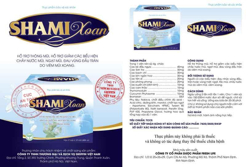 Thực phẩm bảo vệ sức khoẻ Shami Xoan hiện có bán tại các nhà thuốc, quầy thuốc