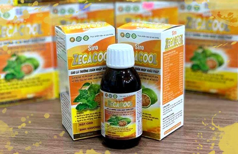 Siro Zecacool, hỗ trợ giảm các biểu hiện tăng tiết đờm, ho nhiều