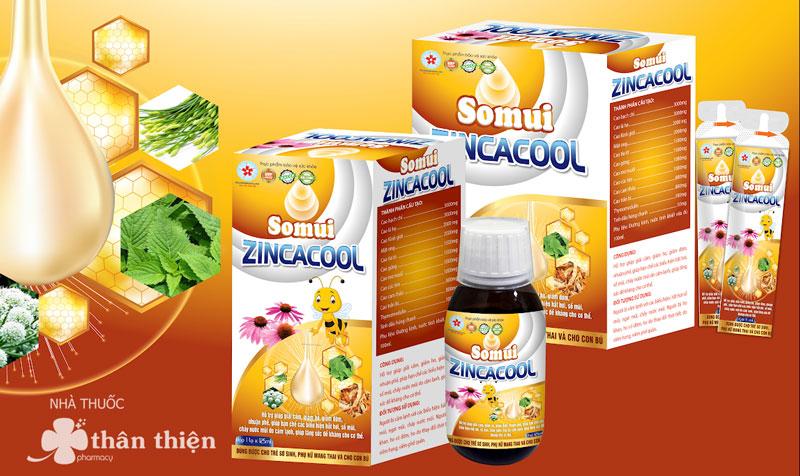 Somui Zincacool, hỗ trợ giúp hạn chế các biểu hiện hắt hơi, sổ mũi