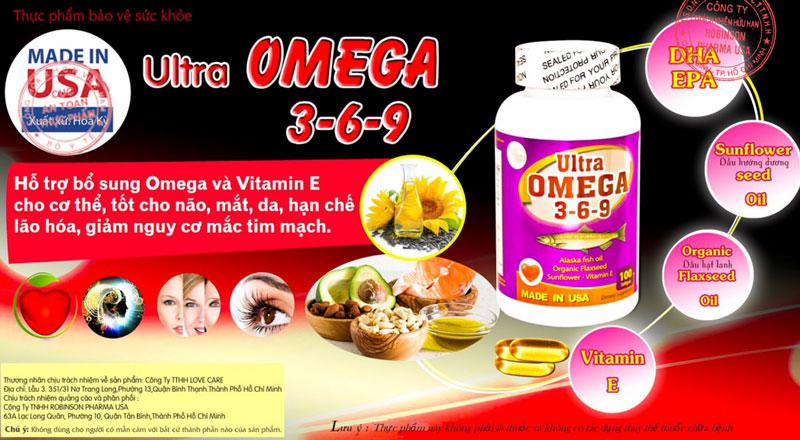 Ultra Omega 3-6-9, hỗ trợ bảo vệ tế bào thần kinh, tăng cường trí nhớ