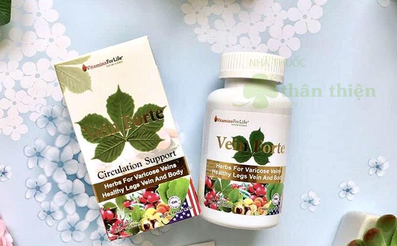 Vein Forte, hỗ trợ điều trị bệnh trĩ, cải thiện lưu thông máu