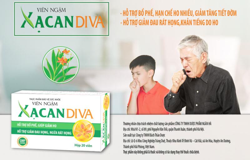 Viên ngậm Xạ Can DIVA, hỗ trợ làm giảm đau rát cổ họng, ngứa rát họng