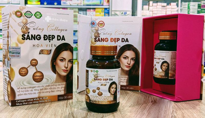 Viên uống Collagen Sáng Đẹp Da Hoa Viên Gold, sản phẩm chính hãng