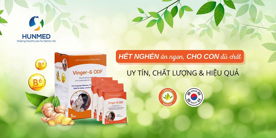 Vinger - 6 ODF, hỗ trợ giảm nhanh các triệu chứng ốm nghén