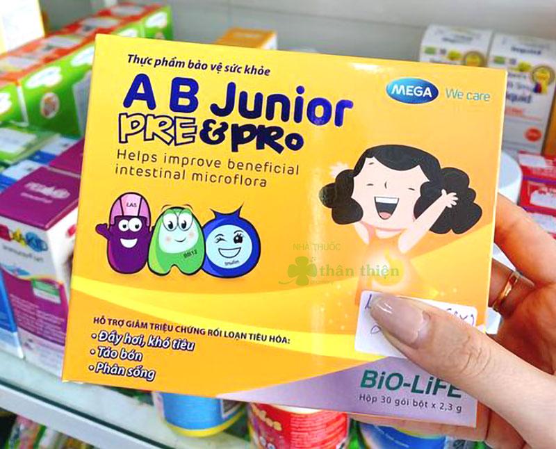 AB Junior Pre & Pro, bổ sung hàng tỷ lợi khuẩn probiotics và chất xơ inulin prebiotic