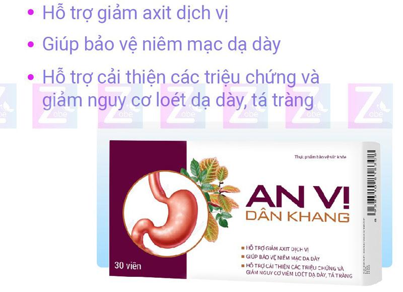 An Vị Dân Khang, giảm nguy cơ viêm loét dạ dày, tá tràng