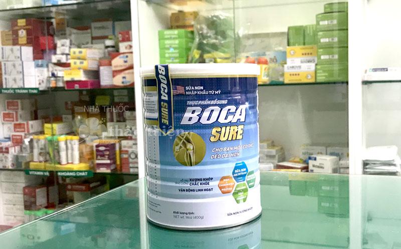 Hình ảnh thực tế Sữa Boca Sure đang có bán tại Nhà Thuốc Thân Thiện