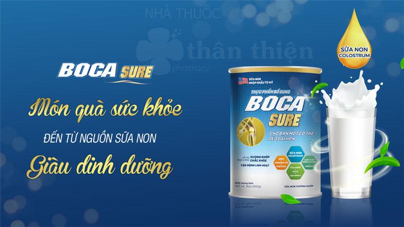 Hình ảnh sản phẩm Sữa Boca Sure đang bán trên thị trường