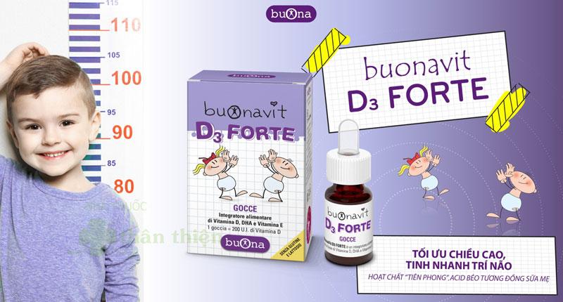 Buonavit D3 Forte, bổ sung vitamin D3, hỗ trợ xương răng chắc khỏe