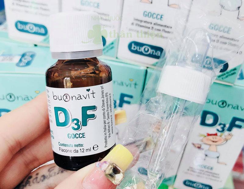 Trên tay sản phẩm Buonavit D3F thực tế đang bán trên thị trường