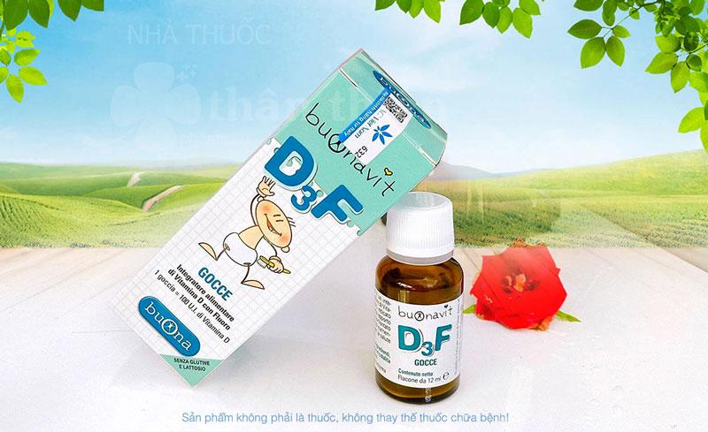 Buonavit D3F, bổ sung vitamin D3 và Flo, hỗ trợ xương răng chắc khỏe