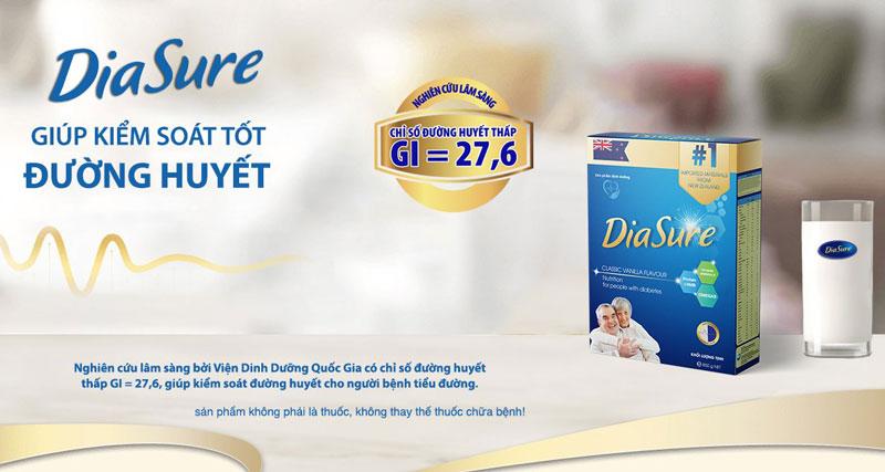 Hình chụp sản phẩm sữa Diasure trên thực tế