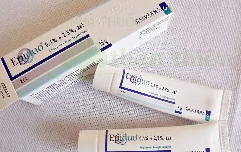 Hình chụp sản phẩm Gel Epiduo 0,1%/ 2.5% đang có bán trên thị trường