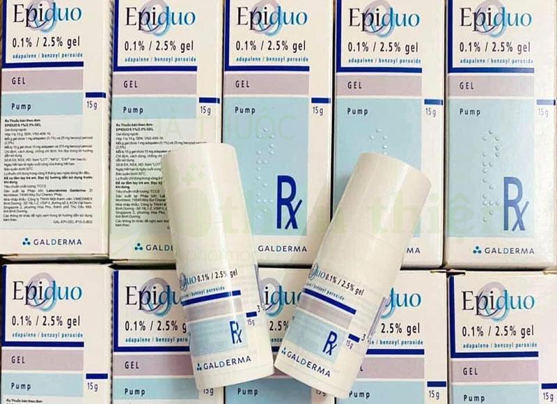 Hình chụp sản phẩm Gel Epiduo 0,1%/ 2.5% đang có bán tại Nhà Thuốc Thân Thiện