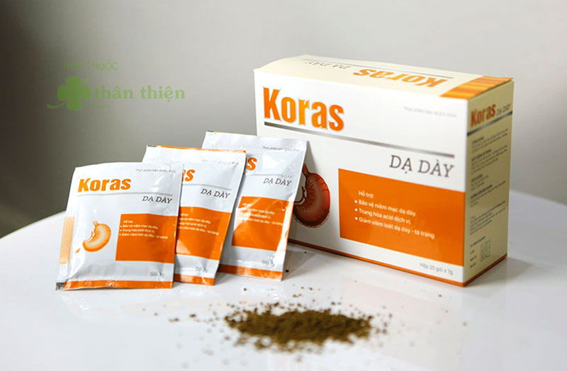 Koras Dạ Dày, hỗ trợ giảm viêm loét dạ dày - tá tràng