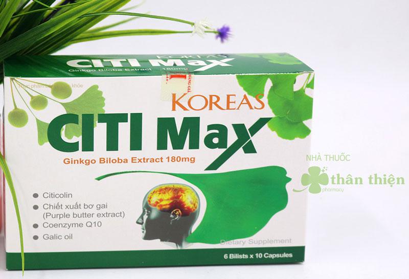 Koreas Citi Max, hỗ trợ tăng cường tuần hoàn não, suy nhược thần kinh