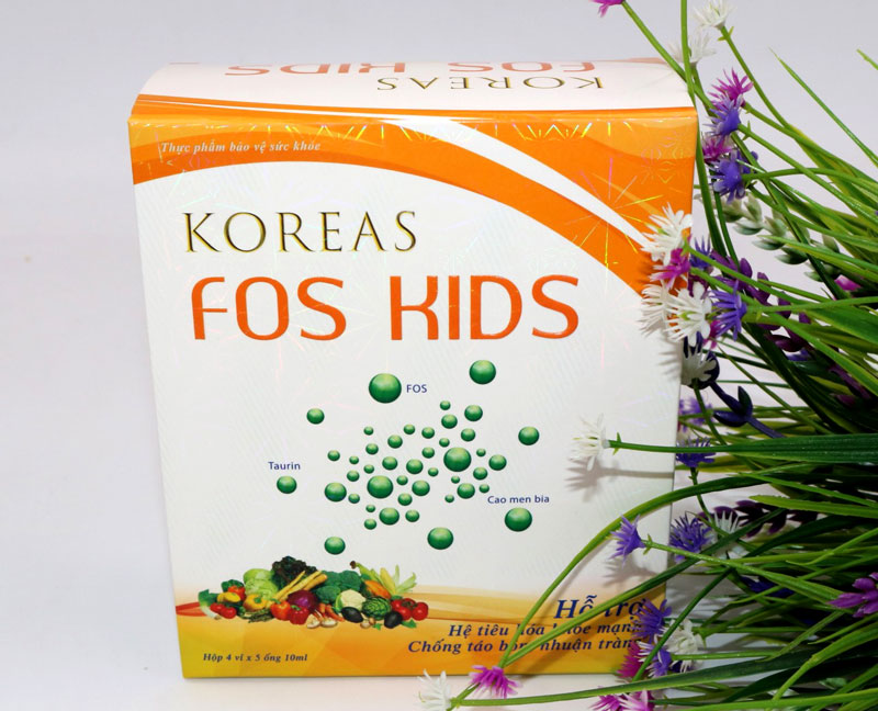 Koreas Fos Kids, hỗ trợ bổ sung chất xơ tự nhiên, hỗ trợ nhuận tràng