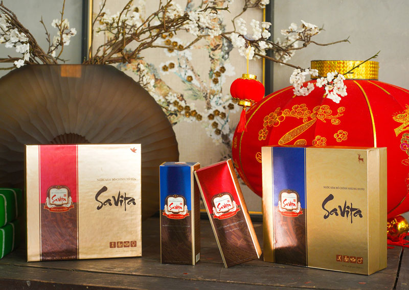 Hình ảnh sản phẩm Nước sâm Bố Chính Savita đang bán trên thị trường
