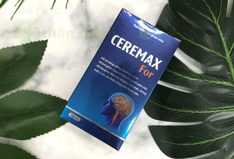 Ceremax For, hỗ trợ bảo về và tăng cường hoạt động của não