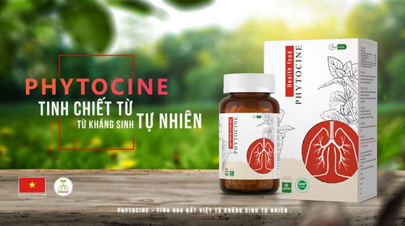 Phytocine - Cao Xuyên Tâm Liên 250mg, hỗ trợ giảm các triệu chứng ho sốt, đau rát họng