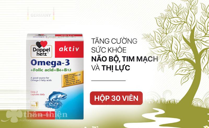 Omega-3 + Folic acid + B6 + B12, hỗ trợ tăng cường sức khỏe tim mạch và não bộ