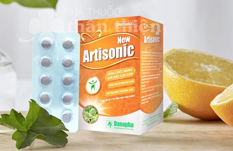 Artisonic New, tăng cường chức năng giải độc gan, hỗ trợ trị viêm gan