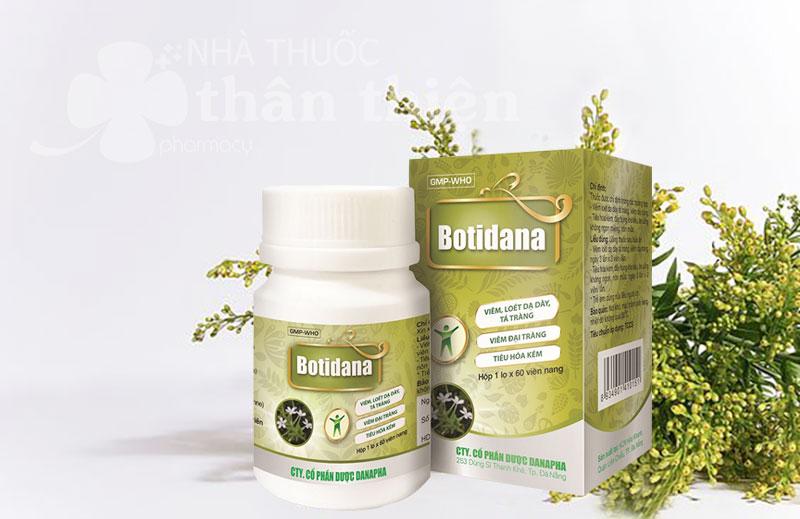 Botidana, hỗ trợ trị viêm loét dạ dày tá tràng, viêm đại tràng, tiê hóa kém