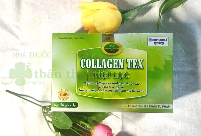 Collagen Tex Diệp Lục, hỗ trợ bổ sung collagen và isoflavon