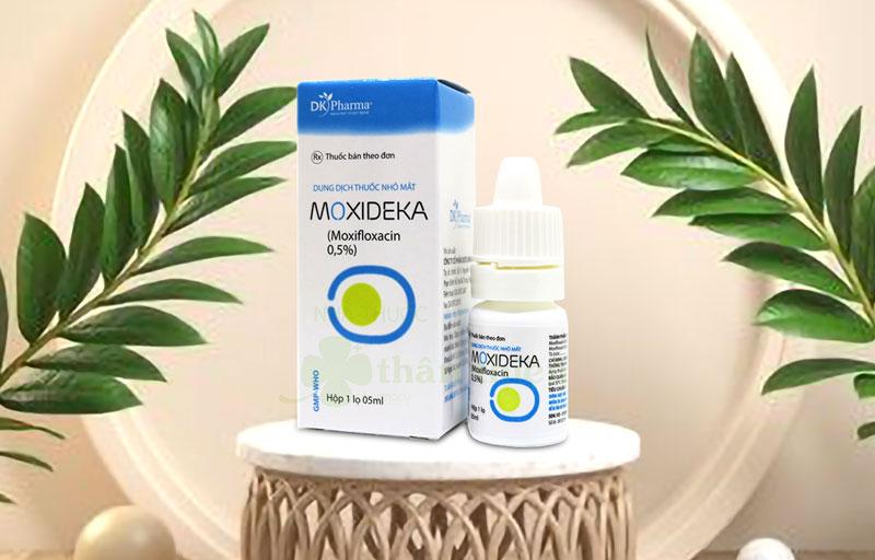 Dung dịch thuốc nhỏ mắt Moxideka, chỉ định trong các trường hợp nhiễm khuẩn mắt