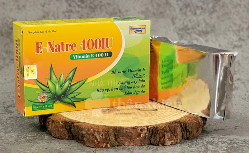 E-Natre 400IU, hỗ trợ bổ sung vitamin E, hỗ trợ chống oxy hóa
