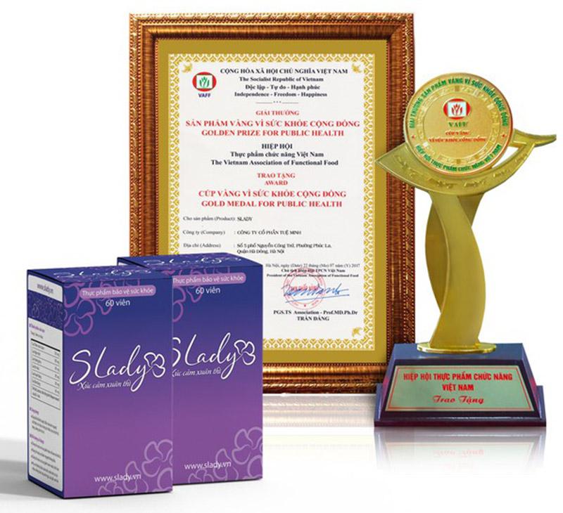 """Slady đạt danh hiệu: """"sản phẩm vàng vì sức khỏe cộng đồng năm 2018"""""""