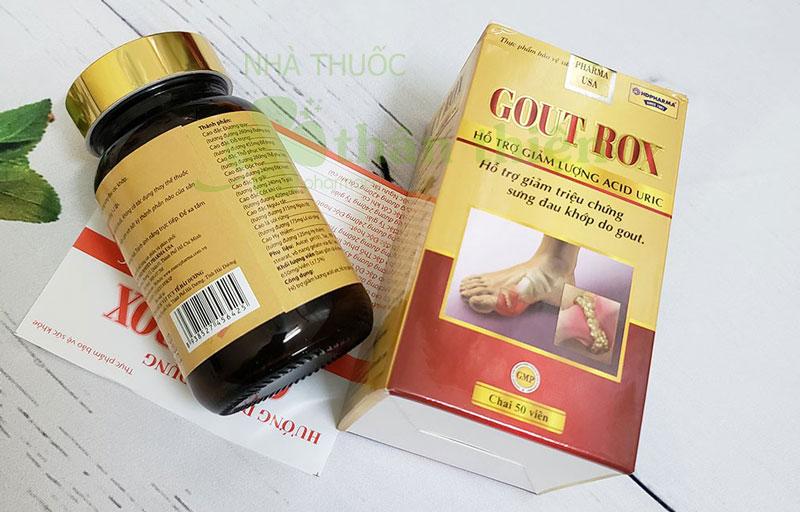 Gout Rox, hỗ trợ giảm triệu chứng sưng đau khớp do gout