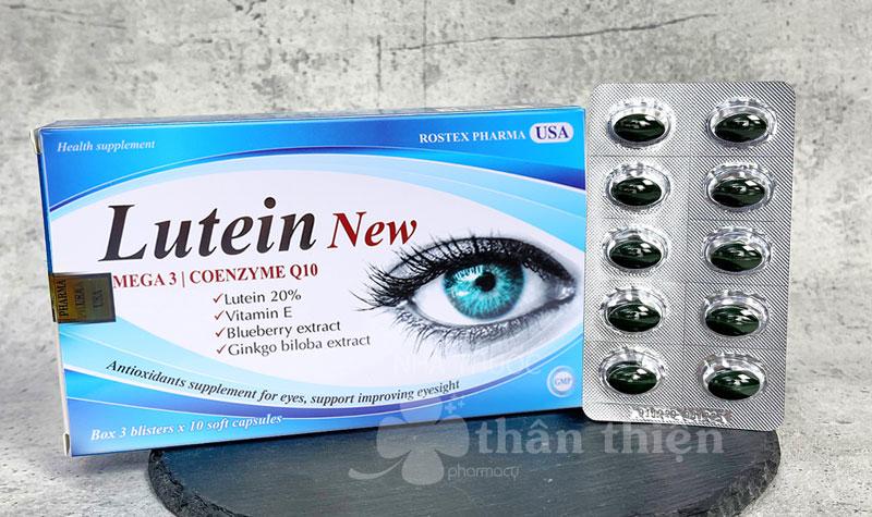 Lutein New, hỗ trợ giảm các biểu hiện: khô mắt, mờ mắt