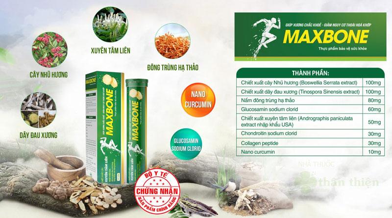 Viên sủi MaxBone, hỗ trợ giảm đau mỏi khớp, giúp khớp vận động linh hoạt