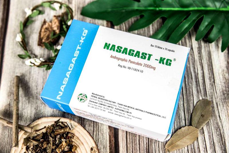 Nasagast KG - Cao đặc Xuyên Tâm Liên 200mg, trị viêm đường hô hấp, viêm xoang