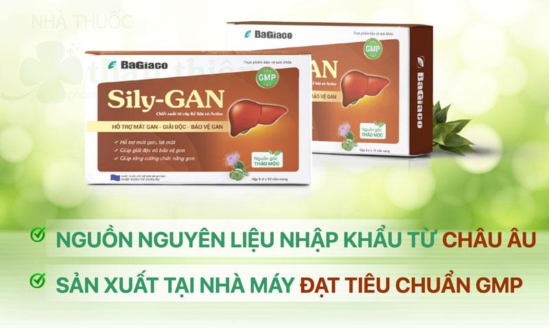 Sily-Gan, hỗ trợ tăng cường chức năng gan, giúp làm mát gan
